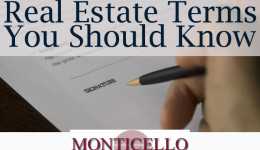 Real Estate Terms You Should Know